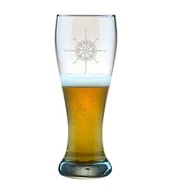 Susquehanna Glass Compass Rose Set of 4 Weizenbier Pilsner Glasses