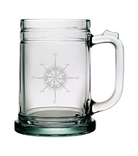 Susquehanna Glass Compass Rose Set of 4 Tankard Mugs