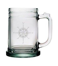 Susquehanna Glass Compass Rose Set of 4 Tankard Mugs
