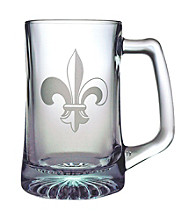 Susquehanna Glass Fleur De Lis Collection Set of 4 Beer Mugs