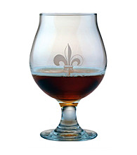 Susquehanna Glass Fleur De Lis Collection Set of 4 Belgian Beer Glasses