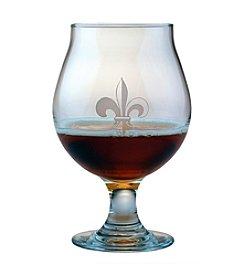 Susquehanna Glass Fleur De Lis Collection Set of 4 Belgian Beer Glasses