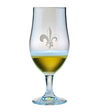 Susquehanna Glass Fleur De Lis Collection Set of 4 Munique Beer Chalices