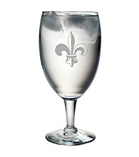 Susquehanna Glass Fleur De Lis Collection Set of 4 Footed Goblets