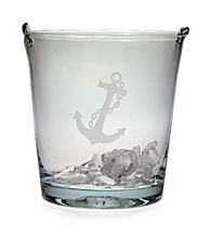 Susquehanna Glass Nautical Anchor Ice Bucket
