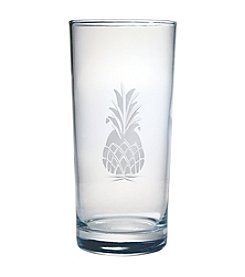 Susquehanna Glass Pineapple Collection Set of 4 Highball Glasses