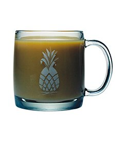 Susquehanna Glass Pineapple Collection Set of 4 Coffee Mugs