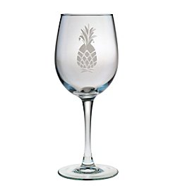 Susquehanna Glass Pineapple Collection Set of 4 White Wine Glasses