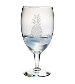 Susquehanna Glass Pineapple Collection Set of 4 Footed Goblet