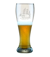 Susquehanna Glass Tall Ship Set of 4 Weizenbier Pilsner Glasses