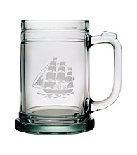 Susquehanna Glass Tall Ship Set of 4 Tankard Mugs