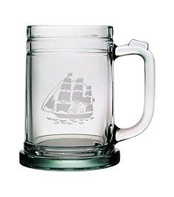 Susquehanna Glass Tall Ship Set of 4 Tankard Mugs