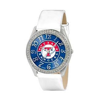 "MLB® Texas Rangers ""Glitz White"" Men's Watch"
