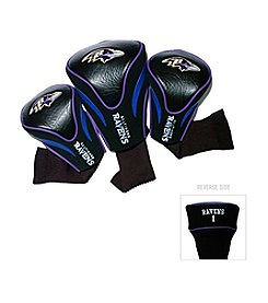Baltimore Ravens Black/Purple 3 Pack Contour Headcover