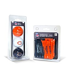 Chicago Bears Blue/Orange 3 Ball Pack and 50 Tee Pack