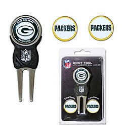 Green Bay Packers Green/Yellow 3 Marker Signature Divot Tool Pack