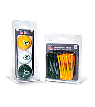 Green Bay Packers Green/Yellow 3 Ball Pack and 50 Tee Pack