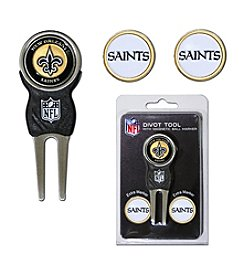 New Orleans Saints Black/Gold 3 Marker Signature Divot Tool Pack