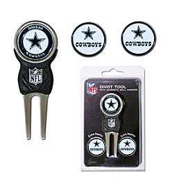 Dallas Cowboys Blue/Silver 3 Marker Signature Divot Tool Pack