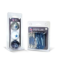 Dallas Cowboys Blue/Silver 3 Ball Pack and 50 Tee Pack