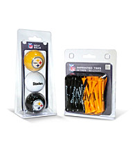 Pittsburgh Steelers Black/Yellow 3 Ball Pack and 50 Tee Pack