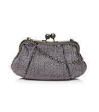 La Regale® Gunmetal Soft Metallic Sequin Clutch