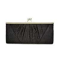 La Regale® Black Lace Frame Clutch