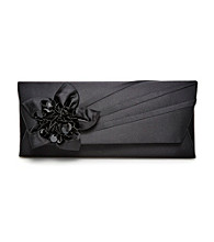 La Regale® Black Floral Beaded Clutch
