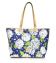 Dooney & Bourke® White/Marine Hydrangea Leisure Shopper