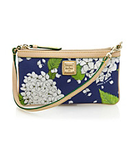 Dooney & Bourke® White/Marine Hydrangea Large Slim Wristlet