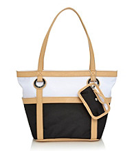 Tyler Rodan™ Black/White Jasmine II Medium Tote