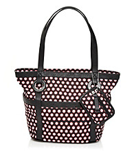 Tyler Rodan™ Black/White Dots Jasmine II Medium Tote