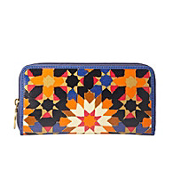 Fossil® Starburst Key-Per Zip Clutch