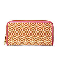 Fossil® Light Orange Signature Key-Per Zip Clutch