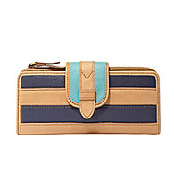 Fossil® Tate Leather Patchwork Clutch
