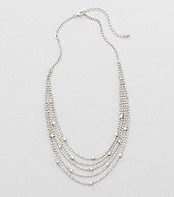 Studio Works® Pearl and Silvertone Five Row Necklace