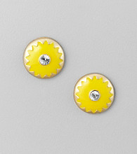Relativity® Mustard Button Earrings
