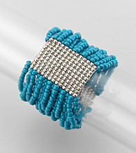 Relativity® Teal Seed Bead Stretch Bracelet