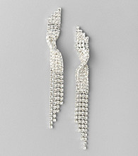 BT-Jeweled Crystal Linear Earrings