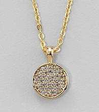BT-Jeweled Goldtone Small Pendant