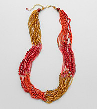 Studio Works® Spice and Goldtone Seed Bead Necklace