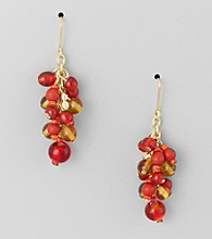 Studio Works® Spice and Silvertone Cluster Earrings