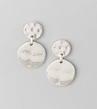 Studio Works® Silvertone Drop Earrings