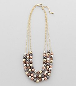 Studio Works® Goldtone Beaded Necklace