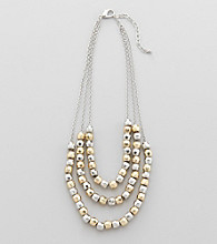 Studio Works® Two Tone Beaded Necklace
