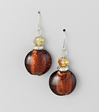 Studio Works® Brown Bead Drop Earrings