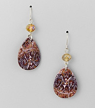 Studio Works® Brown Drop Earrings