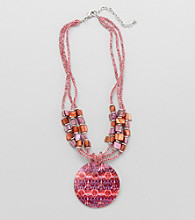 Studio Works® Fuchsia Beaded Pendant