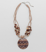 Studio Works® Brown Beaded Pendant