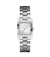 Guess Enduring Chic Silvertone Analog Watch
